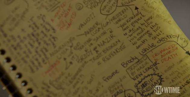 Homeland - Carrie's notebook
