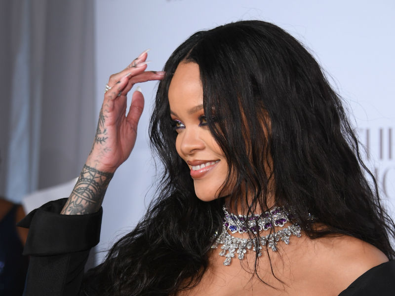 The huge rock on Rihanna's finger has sparked rumours of her engagement