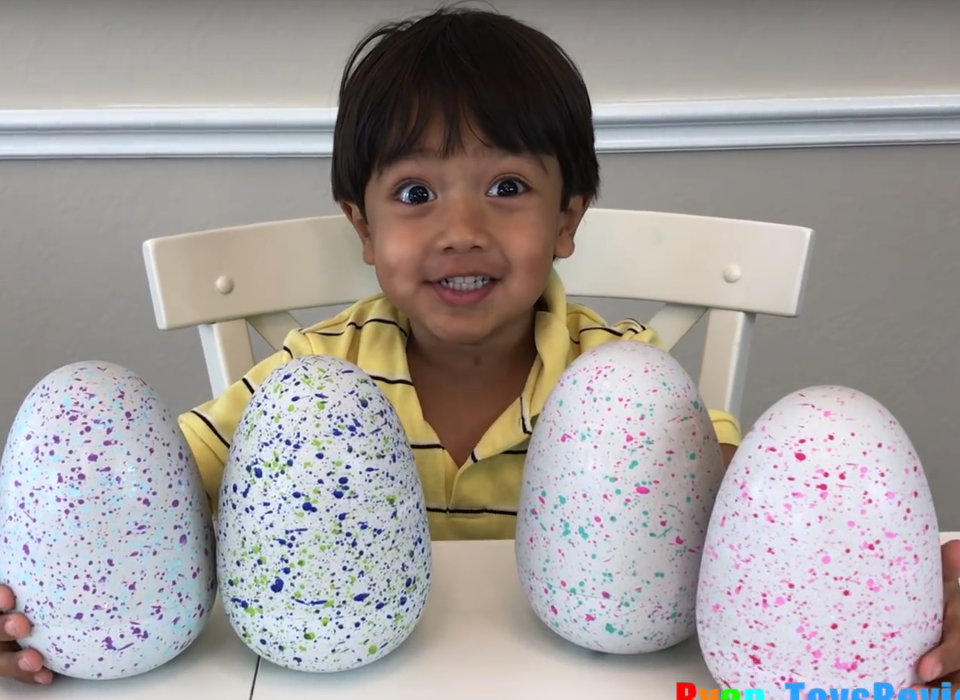 Boy, 6, makes £8200000 a year reviewing toys on YouTube