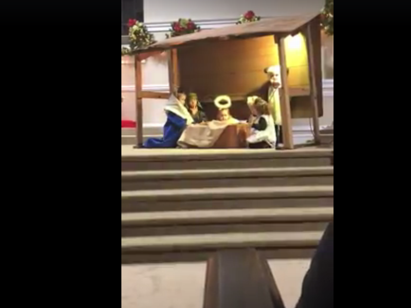 Sheep, Mary tussle over baby Jesus in children's pageant gone hilariously awry