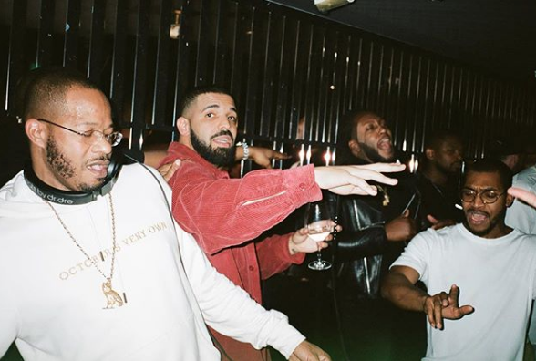 Drake at the launch of his new restaurant, Pick 6ix in Toronto, Canada.