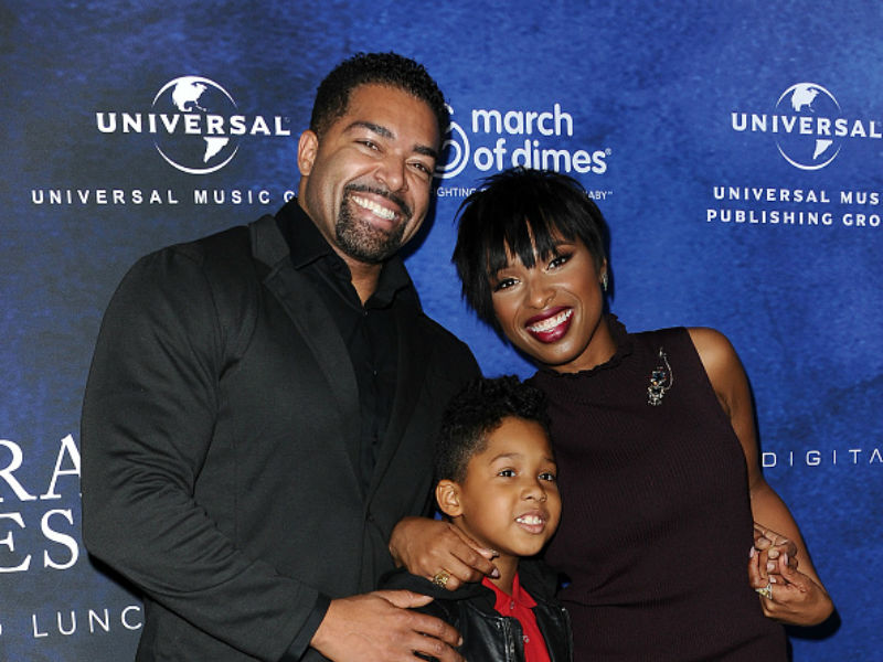Jennifer Hudson and her fiancé David Otunga and their son David Otunga Jr. attend the 2016 March of Dimes Celebration of Babies on Dec. 9 2016