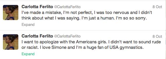 Twitter/Carlotta Ferlito