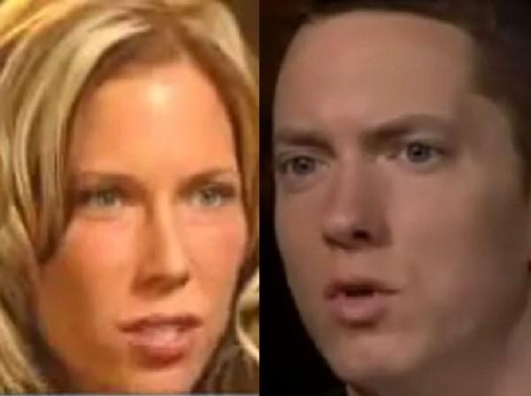 Eminem and Ex-Wife Kimberly Scott. (Credit: YouTube Stills)